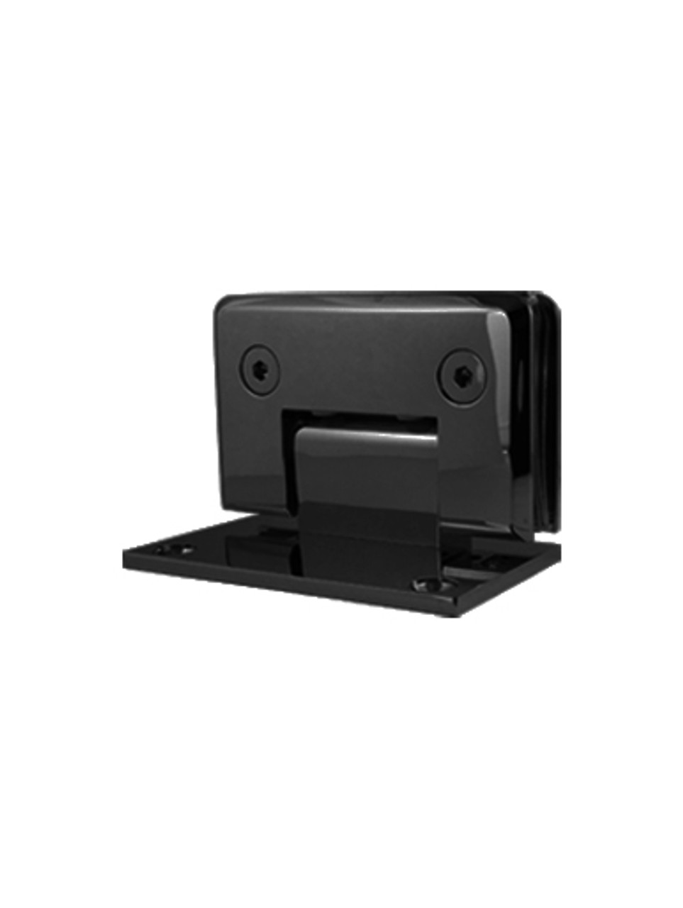 SHOPAWMBL Wall Mount Offset Back Plate Hinge in Matte Black Finish