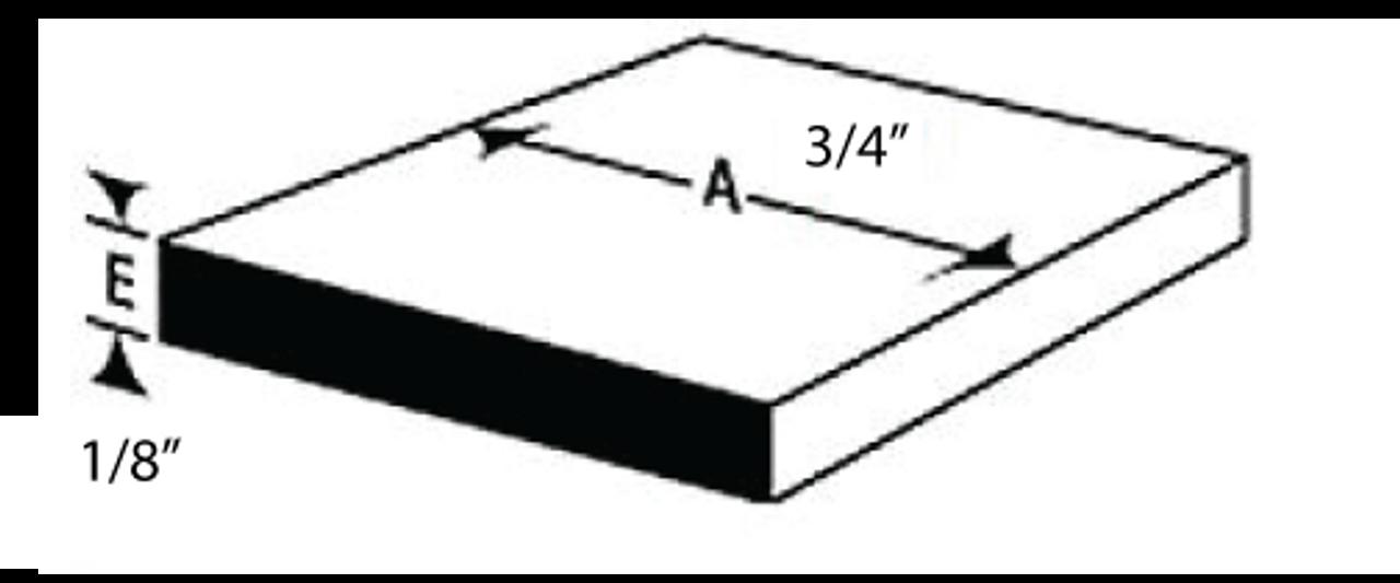 "E3FL1834BL12 FLAT BAR IN ALUMINIUM 1/8"" X 3/4"" IN 12 FEET"