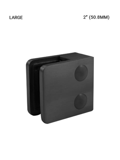 GC61575052SMBL Glass Clip LG. 50.8mm SS316, Matte Black