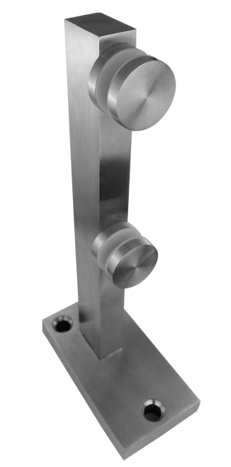 """Mini Post Solid 12"""" High in Brushed Finish"""
