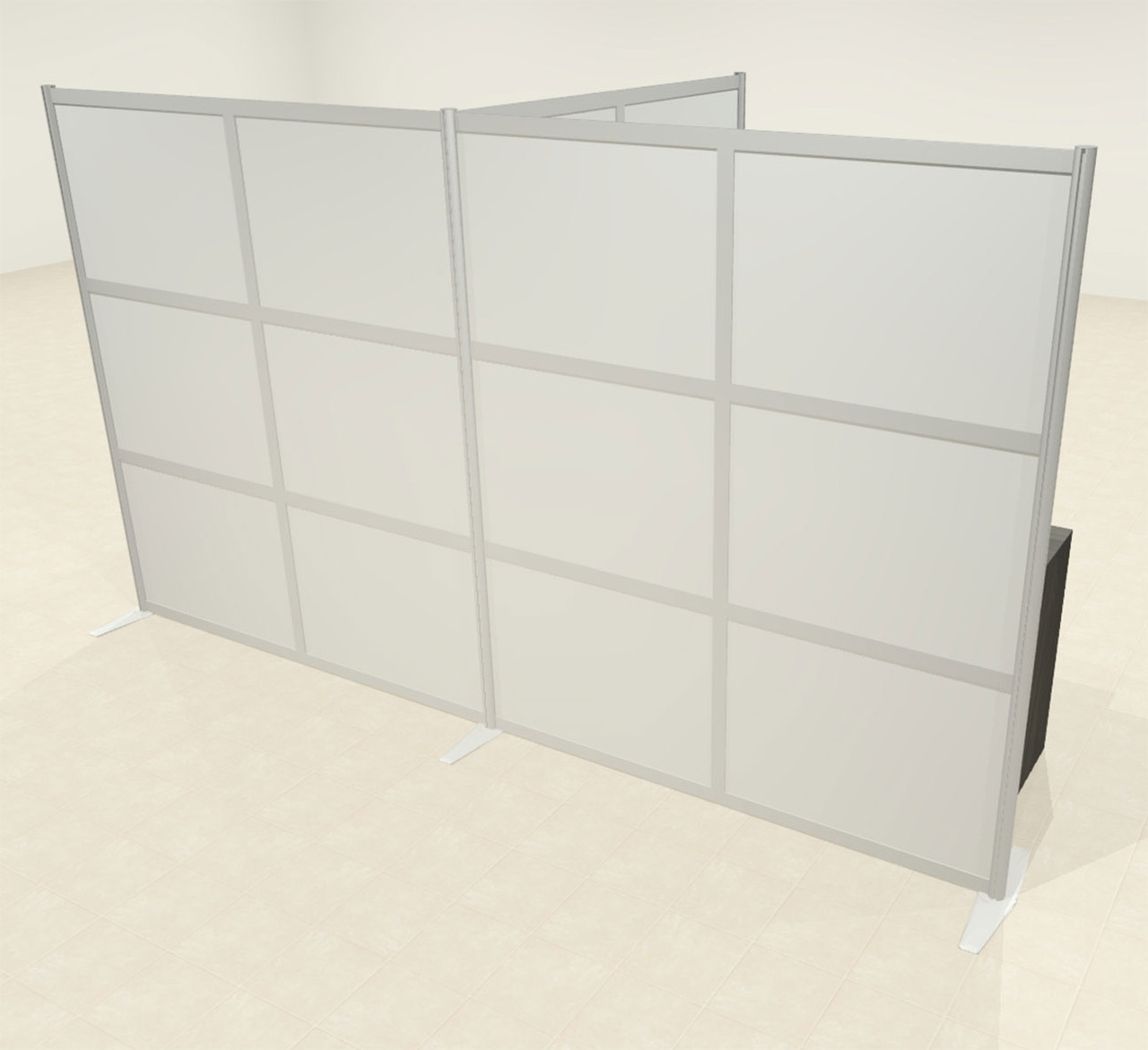 One T Shaped Loft Modern Office Home Aluminum Frame Partition / Divider / Sneeze Guard, #UT-ALU-P69