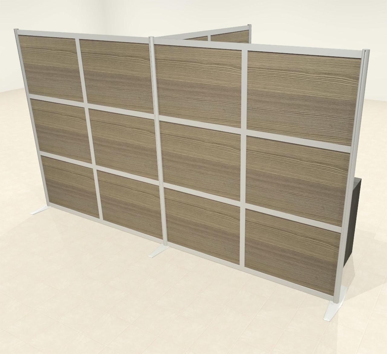 One T Shaped Loft Modern Office Home Aluminum Frame Partition / Divider / Sneeze Guard, #UT-ALU-P71