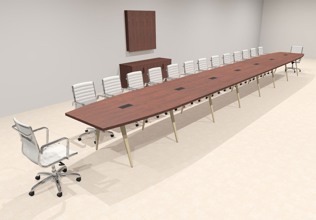 Modern Boat shaped 30' Feet Conference Table, #OF-CON-CW81