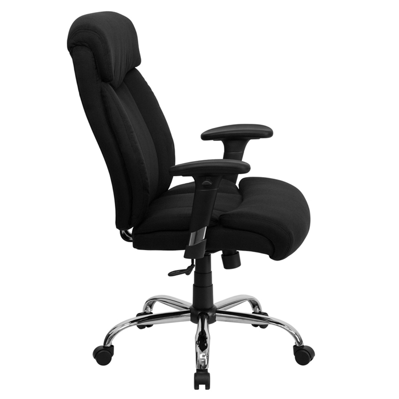 Picture of: Big Tall 350 Lb Capacity Big Tall Black Fabric Office Chair With Arms Ff 0301 14 Color4office