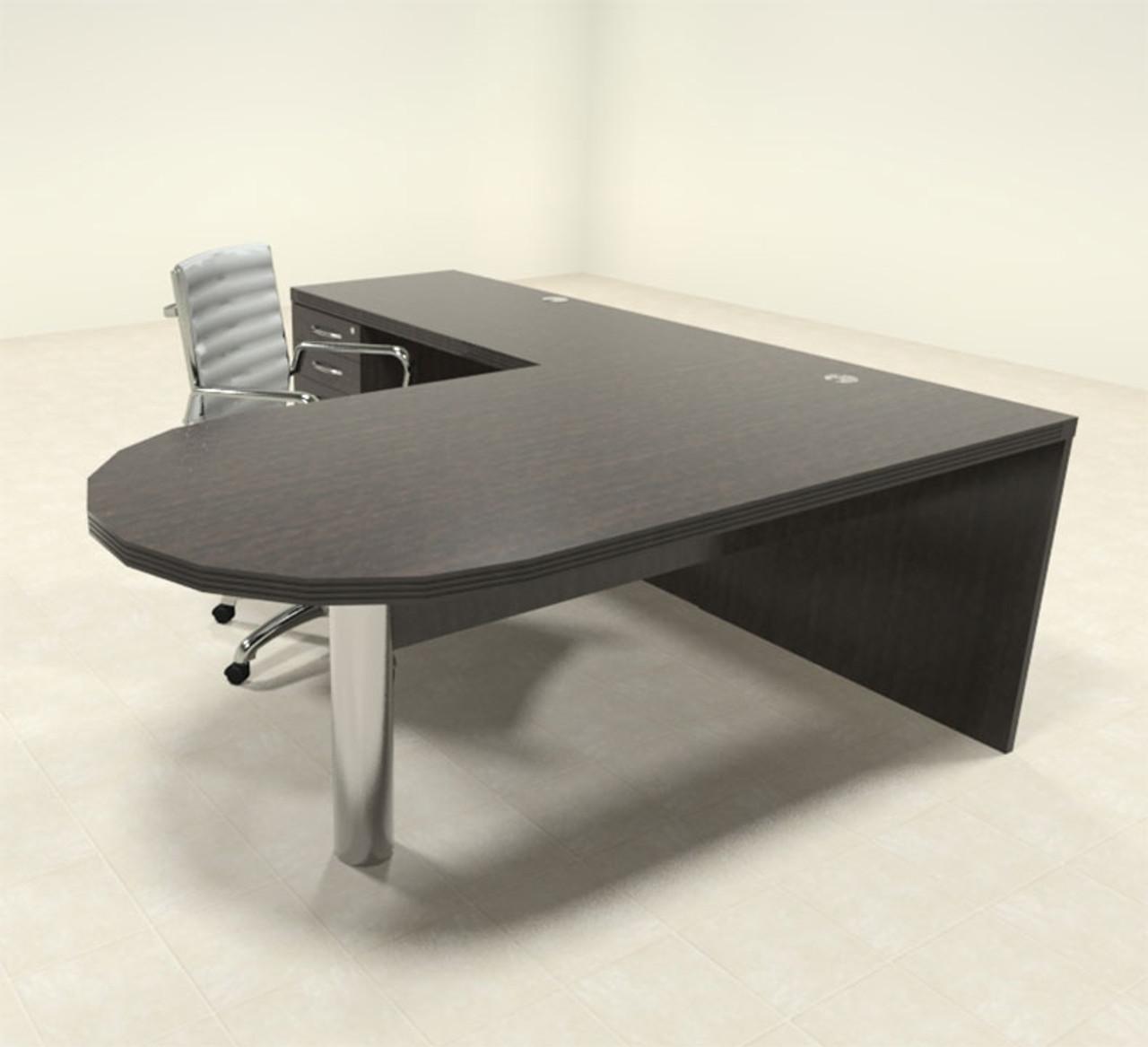 3pc Modern Contemporary L Shaped Executive Office Desk Set Ro Abd L9 Color4office