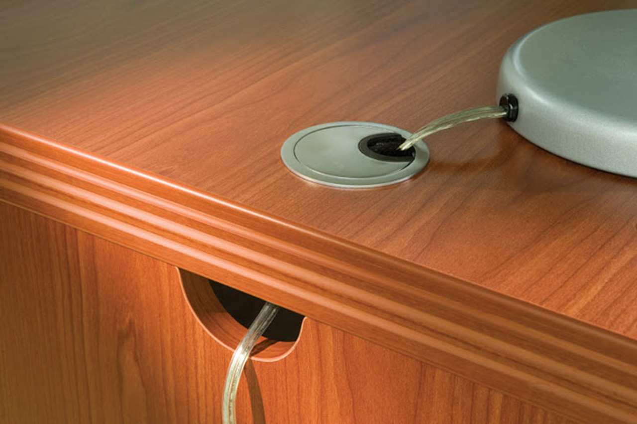 3pc Modern Contemporary L Shaped Executive Office Desk Set, #RO-ABD-L9