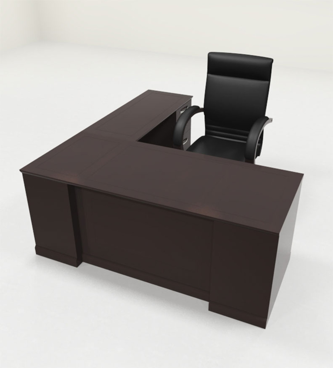 4pc Traditional Modern L Shaped Executive Office Desk Set Ro Sor L4 Color4office