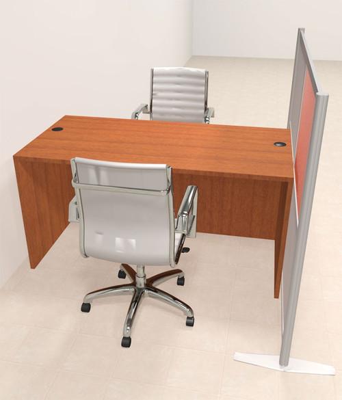 One Person Workstation w/Acrylic Aluminum Privacy Panel, #OT-SUL-HPO85