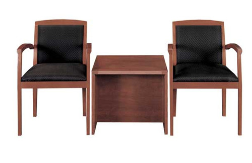 2 Guest Chairs + 1 End Table, #CH-AMB-CAB10