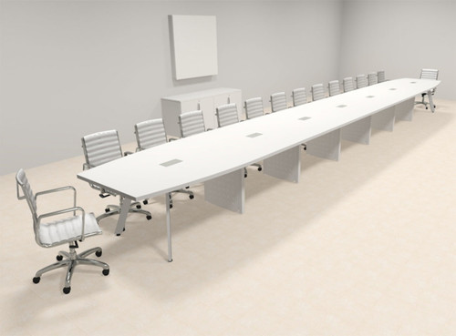 Modern Boat shaped 30' Feet Conference Table, #OF-CON-CV78