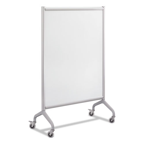 Rumba Full Panel Whiteboard Collaboration Screen, 36 X 66, White/gray, #SF-905-WBS