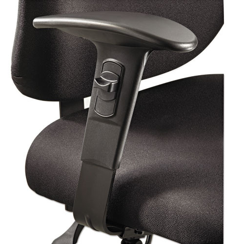 Height/width-Adjustable T-Pad Arms For Alday 24/7 Task Chair, Black, 1 Pair, #SF-2288-BL