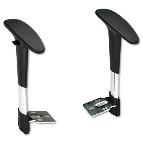 Adjustable T-Pad Arms For Metro Series Extended-Height Chairs, Black/chrome, #SF-2384-BL