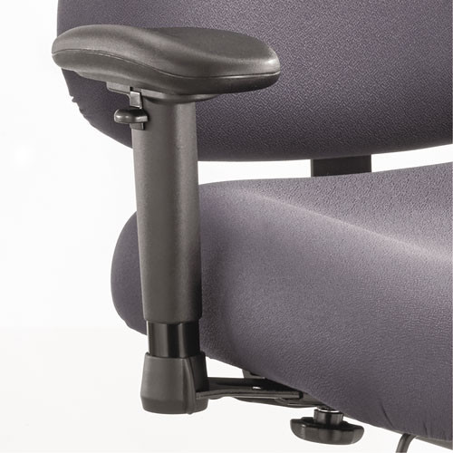 Height/width-Adjustable T-Pad Arms For Optimus Big & Tall Chairs, Black, 1 Pair, #SF-2480-BL