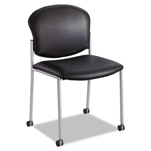 Diaz Guest Chair, Black Vinyl, #SF-3083-BV