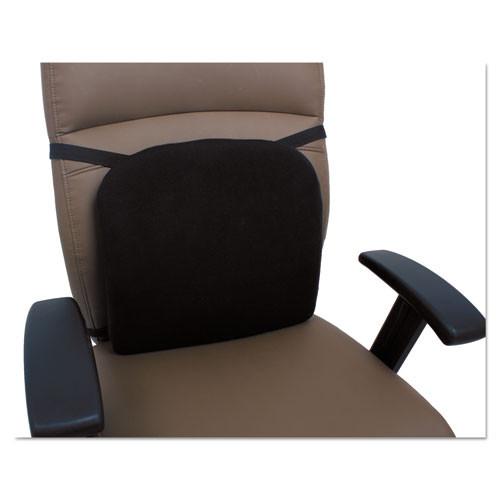 Cooling Gel Memory Foam Backrest, 14 1/8 X 14 1/8 X 2 3/4, Black, #AL-1056
