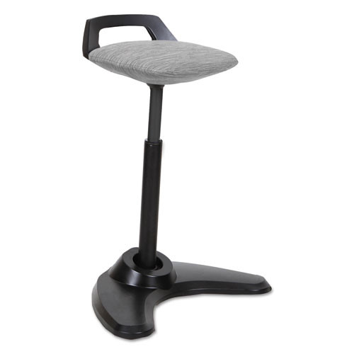 Adaptivergo Sit To Stand Perch Stool, Gray With Black Base, #AL-1065
