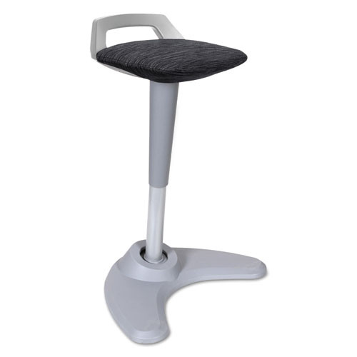 Adaptivergo Sit To Stand Perch Stool, Black With Silver Base, #AL-1066