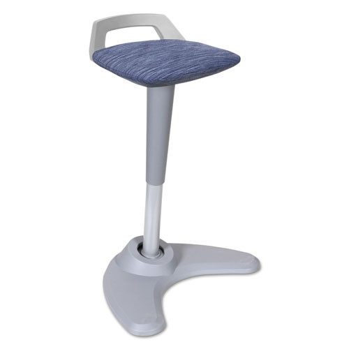 Adaptivergo Sit To Stand Perch Stool, Blue With Silver Base, #AL-1067