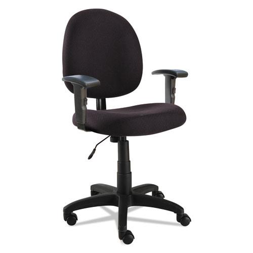 Alera Essentia Series Swivel Task Chair With Adjustable Arms, Black, #AL-1211