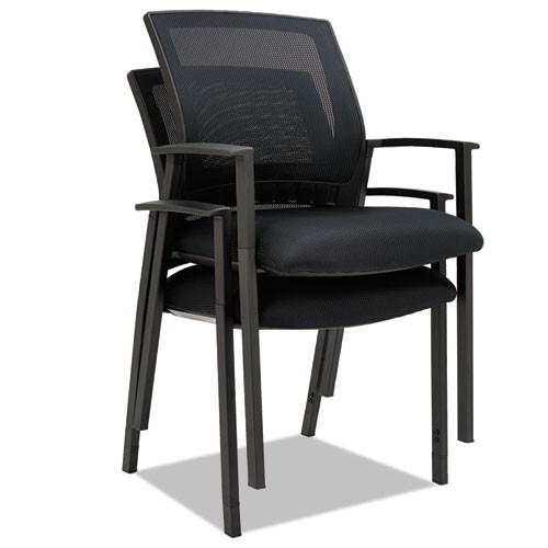 Alera Es Series Mesh Stack Chairs, Black, 2 Per Carton, #AL-1236