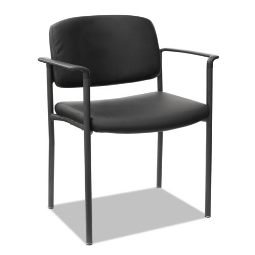 Alera Sorrento Series Stacking Guest Chair, Faux Leather, Black, 2/carton, #AL-1254