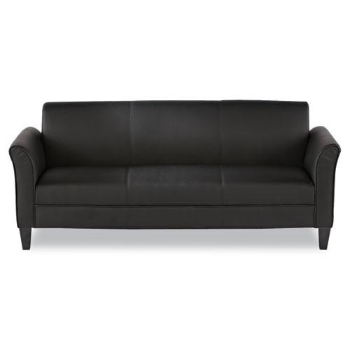 Alera Reception Lounge Furniture, Loveseat, 55-1/2w X 31-1/2d X 32h, Black, #AL-1452
