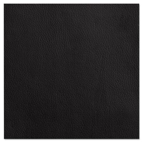 Alera Reception Lounge 500 Series Arch Solid Wood Chair, Mahogany/black Leather, #AL-1459
