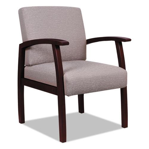 Alera Reception Lounge 700 Series Guest Chair, Mahogany/sandstone, #AL-1461