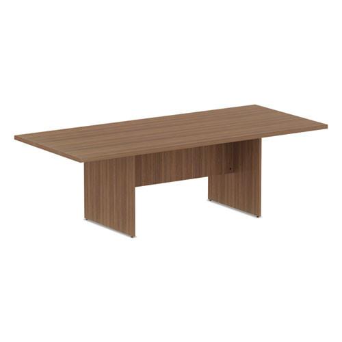 Valencia Series Conference Table, Rectangle, 94.5 X 41 3/8 X 29.5, Modern Walnut, #AL-1611