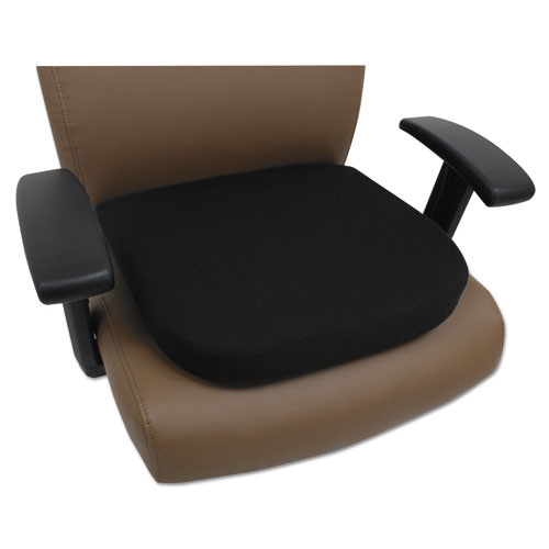 Cooling Gel Memory Foam Seat Cushion, 16 1/2 X 15 3/4 X 2 3/4, Black, #AL-1690