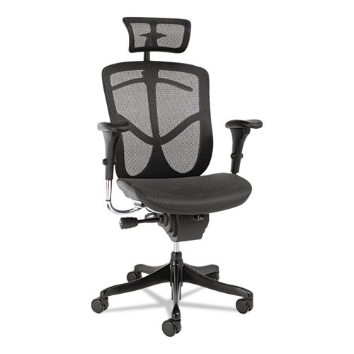 Alera Eq Series Headrest, Mesh, Black, #AL-1691
