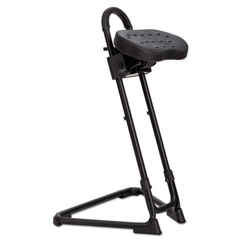 Ss Series Sit/stand Adjustable Stool, Black, #AL-1826