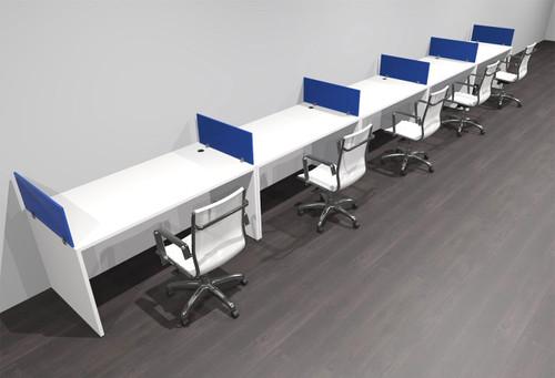 Five Person Modern Accoustic Divider Office Workstation Desk Set, #OF-CPN-SPRB13