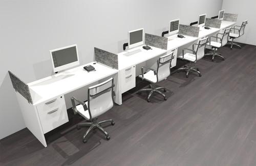 Five Person Modern Accoustic Divider Office Workstation Desk Set, #OF-CPN-SPRG33