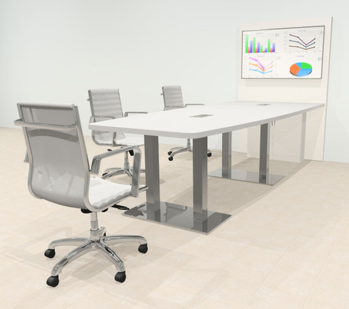 Boat 10' Feet Zoom Duo Facetime Video Conference Table, #OF-CON-CMP25