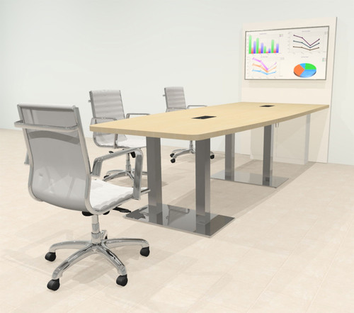 Boat 10' Feet Zoom Duo Facetime Video Conference Table, #OF-CON-CMP26