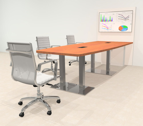 Boat 10' Feet Zoom Duo Facetime Video Conference Table, #OF-CON-CMP27