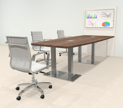 Boat 10' Feet Zoom Duo Facetime Video Conference Table, #OF-CON-CMP28