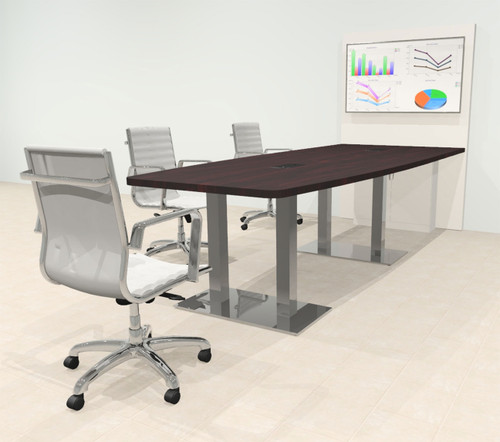 Boat 10' Feet Zoom Duo Facetime Video Conference Table, #OF-CON-CMP30