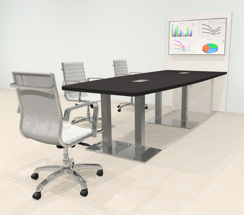 Boat 10' Feet Zoom Duo Facetime Video Conference Table, #OF-CON-CMP31