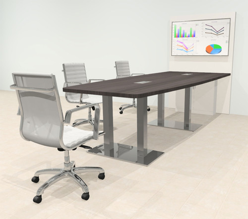 Boat 10' Feet Zoom Duo Facetime Video Conference Table, #OF-CON-CMP32