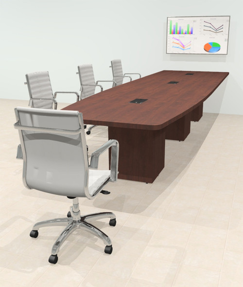 Boat 14' Feet Zoom Duo Facetime Video Conference Table, #OF-CON-CQP29