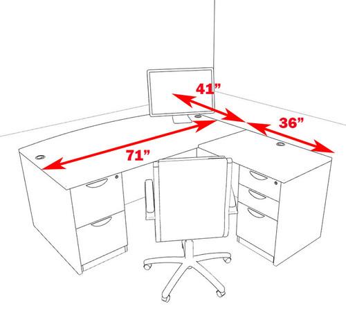 4pc L Shape Modern Executive Office Desk, #OT-SUL-L49