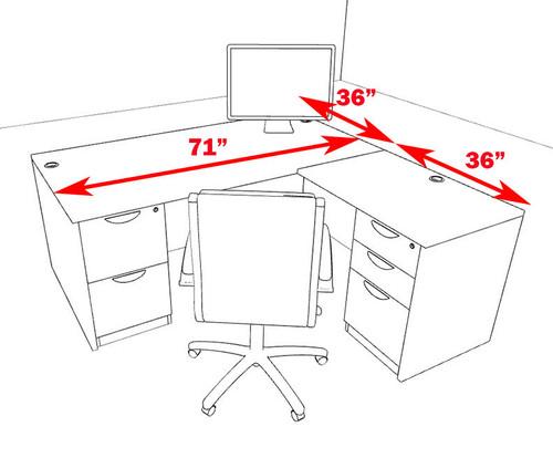 4pc L Shape Modern Executive Office Desk, #OT-SUL-L50