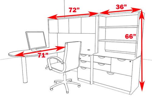 6pc L Shape Modern Executive Office Desk, #OT-SUL-L55