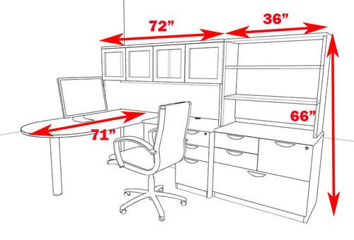 6pc L Shape Modern Executive Office Desk, #OT-SUL-L60