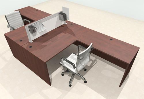 Two Person L Shape Modern Aluminum Organizer Divider Office Workstation Desk Set, #OT-SUL-FPS26