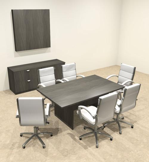 Modern Rectangular 6' Conference table, #OT-SUL-C20