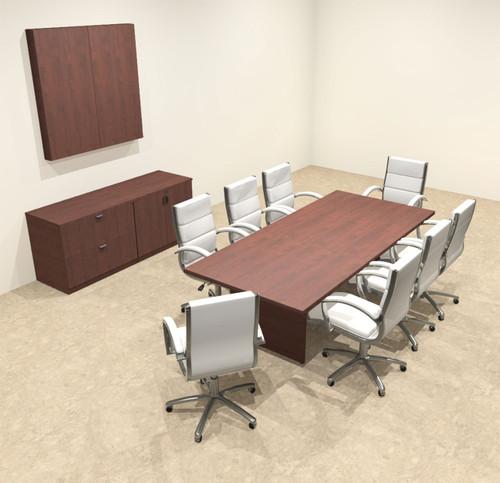 Modern Rectangular 8' Conference table, #OT-SUL-C22